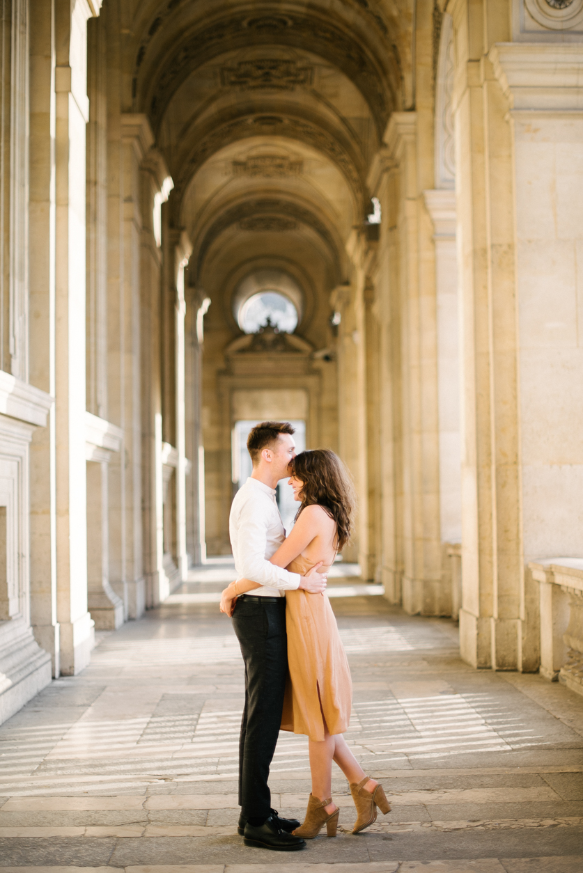 Engagement in Paris Eiffel Tower, Ana and Laurent | Neža Reisner | Engagement Photographer