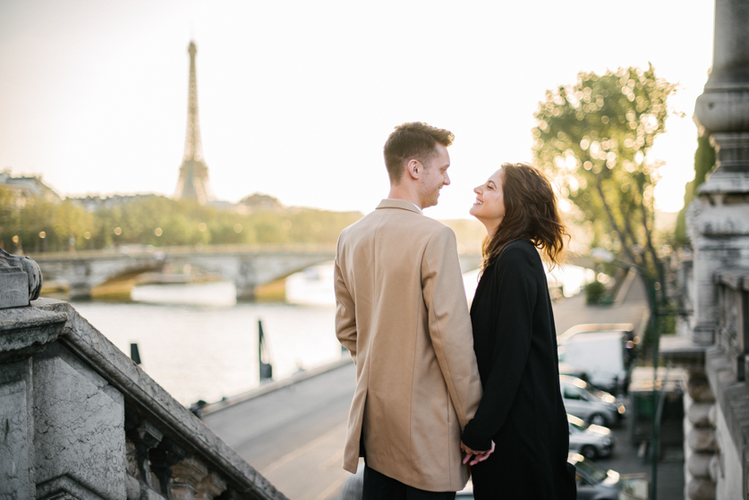 Engagement photographer in Paris Eiffel Tower, Ana and Laurent | Neža Reisner | Engagement Photography
